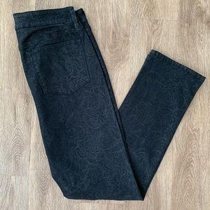 New NYDJ 12 wax coated skinny pants denim stretch